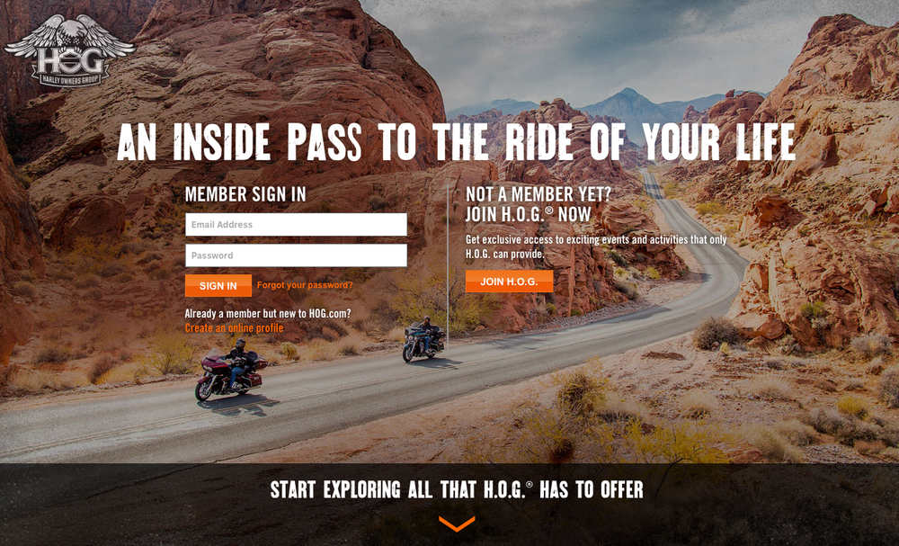 HOG (Harley Owners' Group) is the grand-daddy of Advocate communities with over one million members who are passionate about riding and, of course, their Harleys.
