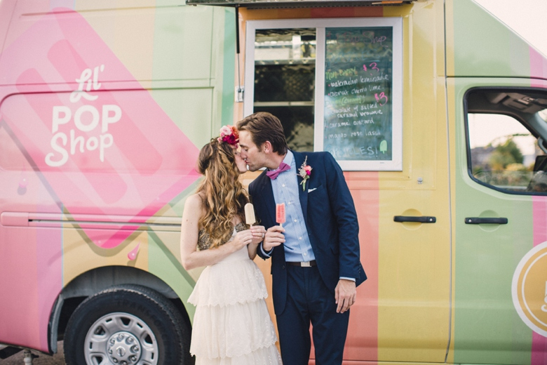 Our pre-wrapped pops make serving a breeze and we can happily customize pops with your event sticker! Prefer servers to hand out pops? Yep, we can provide that too! Photo: Lauren Fair Photography.