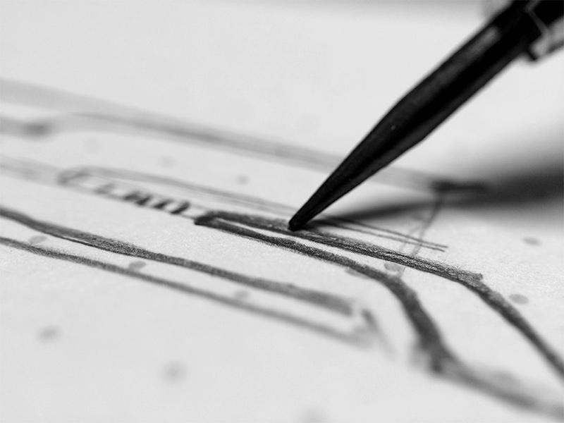 Thumbnail sketch detail.