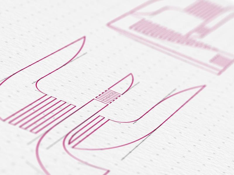 Type design detail.