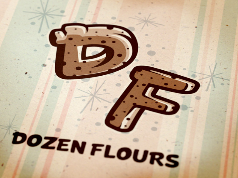 Dozen Flours secondary monogram