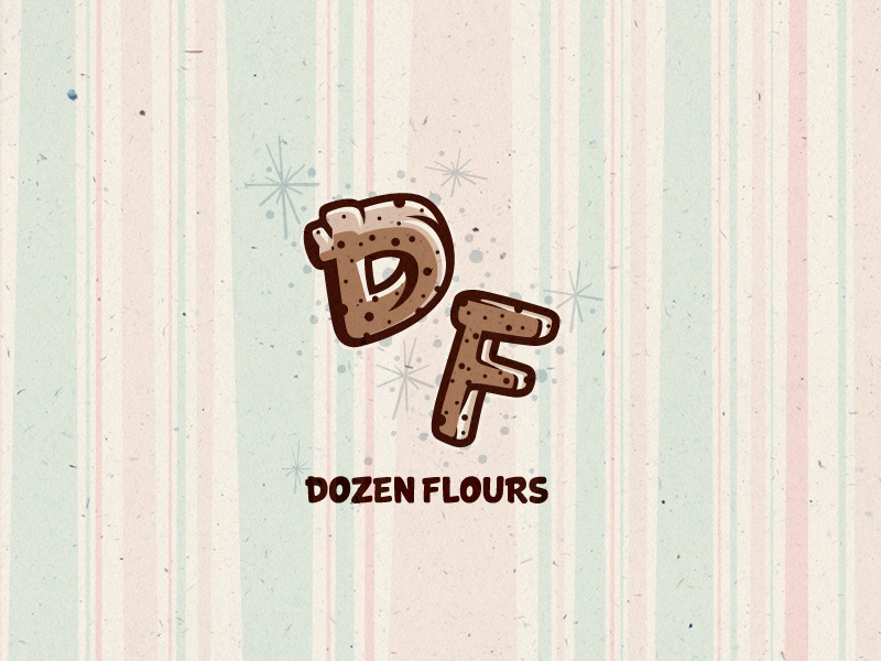 Dozen Flours secondary logo - monogram.