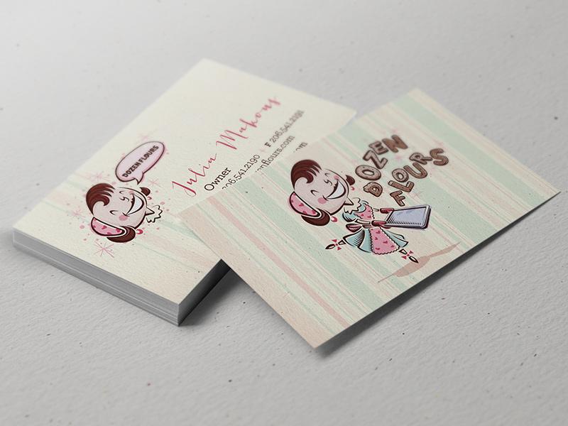 Dozen Flours business cards.