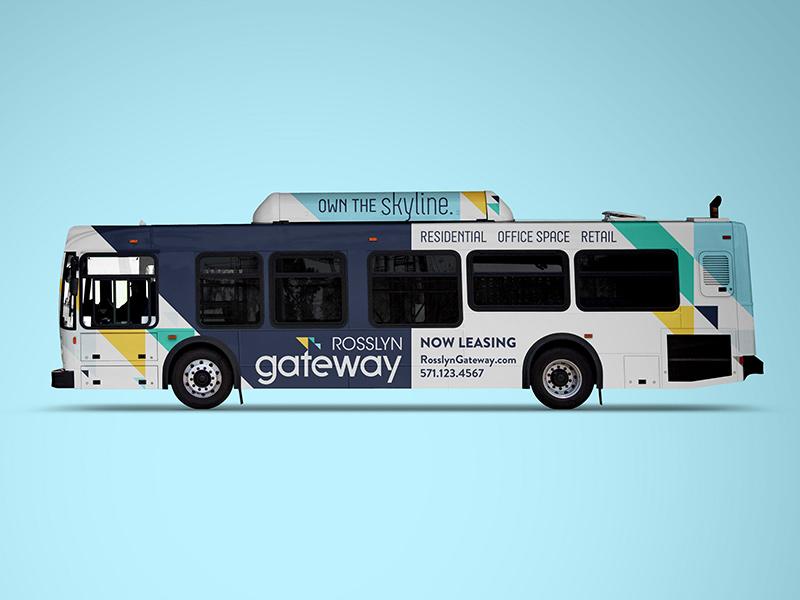 Rosslyn Gateway bus wrap