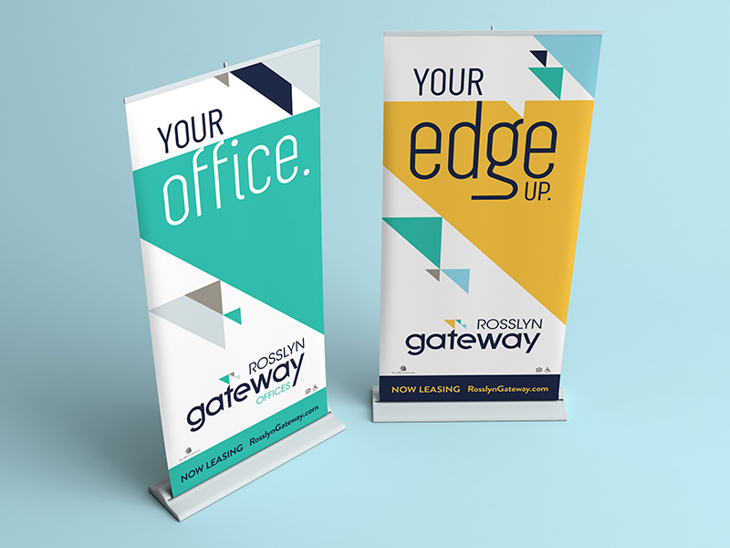 Rosslyn Gateway pop up banners