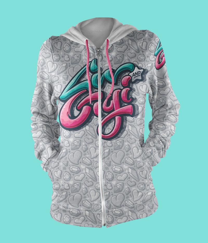 Co-branded hoodie.