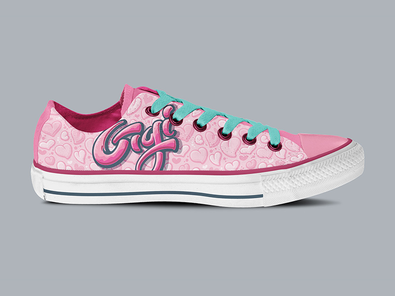 Gigi-specific low-top Chucks, side view.