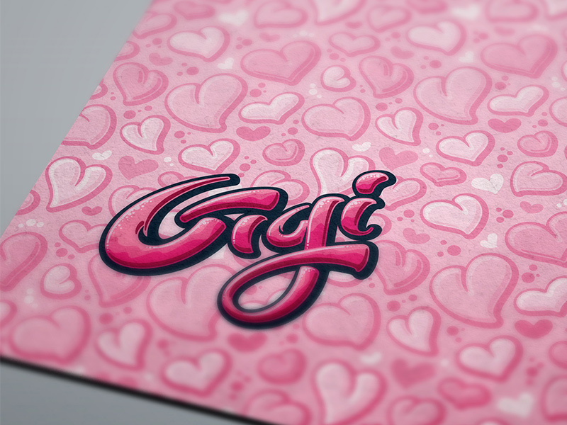 Gigi-specific logo and seamless pattern