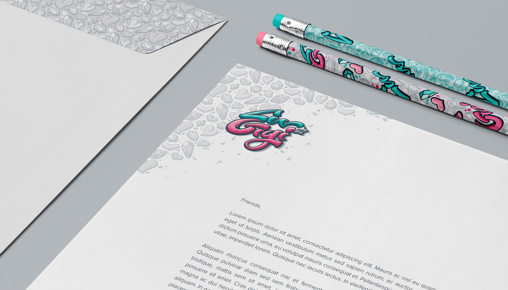 Stationery suite detail.