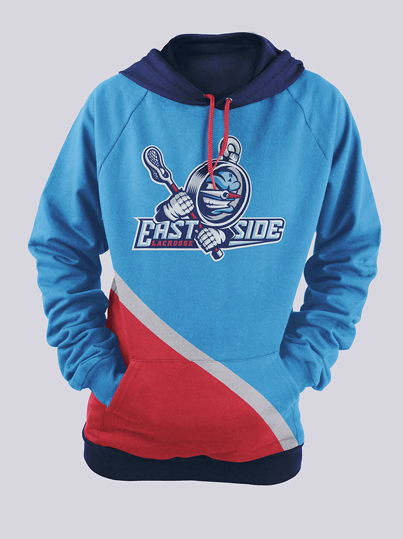 Hoodie variant with silk-screened primary logo