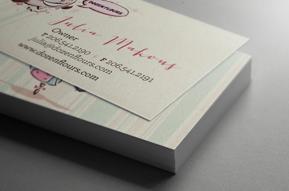 Dozen Flours business cards.