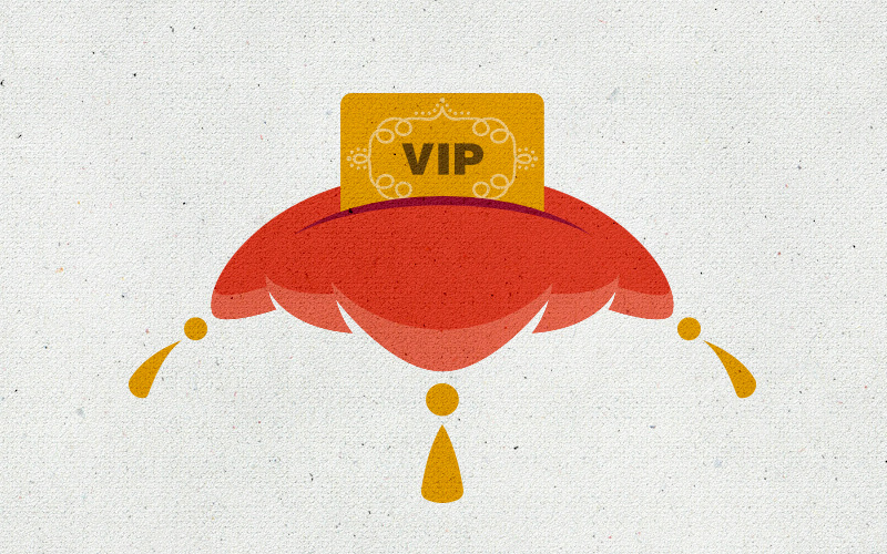 This illustration represents Inspirato's exclusive VIP privileges.