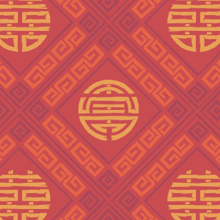 Chinese lucky symbols pattern