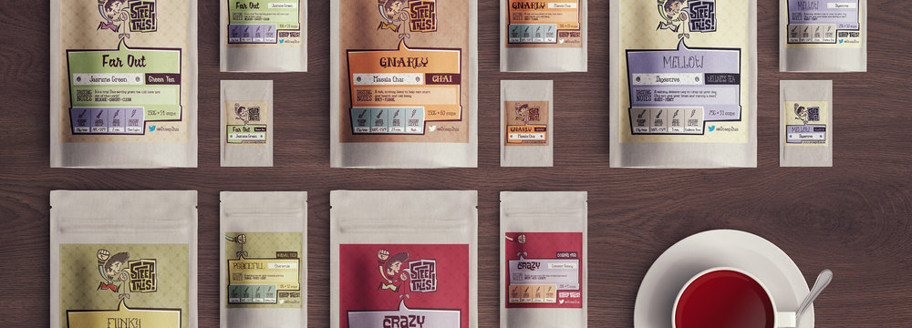 Steep This! – Loose leaf tea company branding and packaging