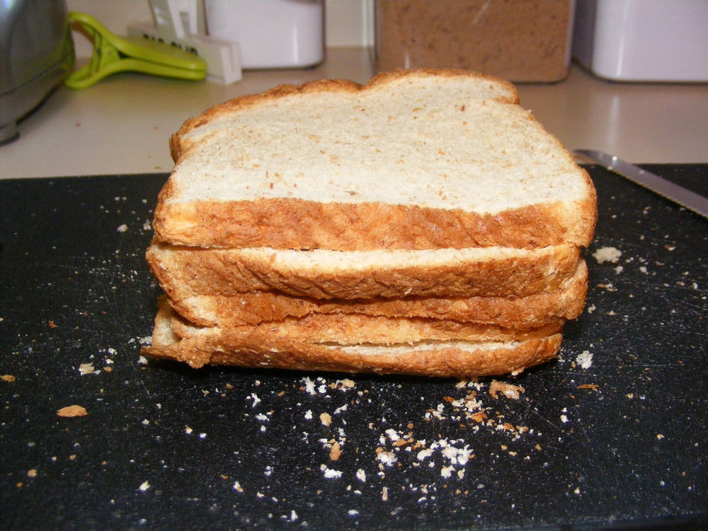 stacked bread