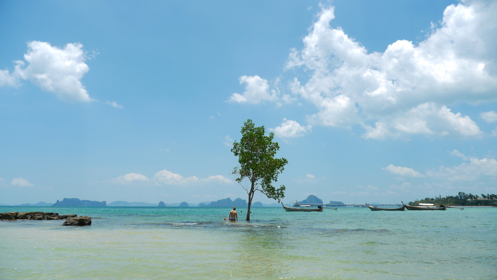 An empty beach we found near Ao Nang, Thailand. No brochures for this place.