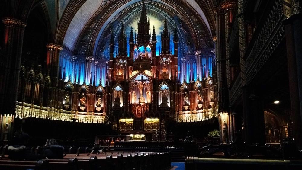 Cathédrale de Nôtre Damn, Montréal, Canada
