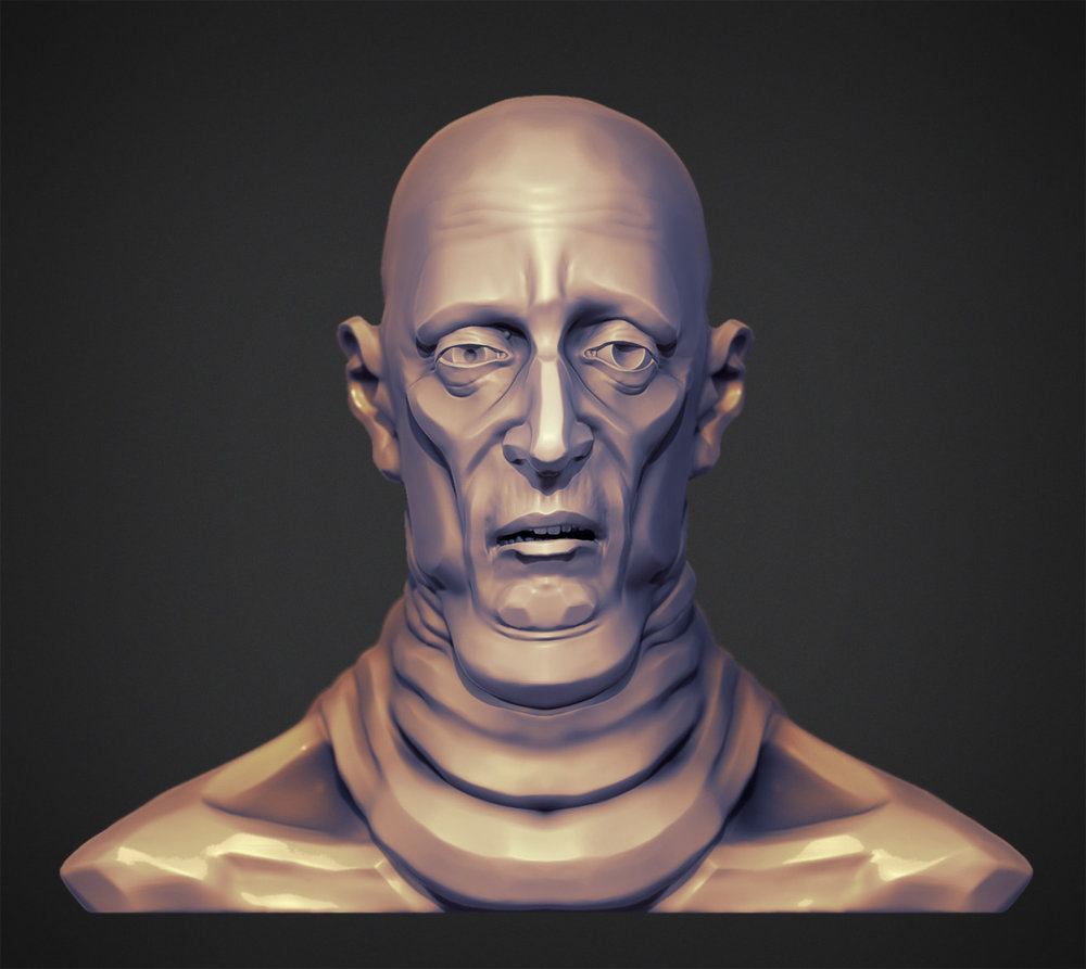 Here's a better render of yesterday's sculpt.