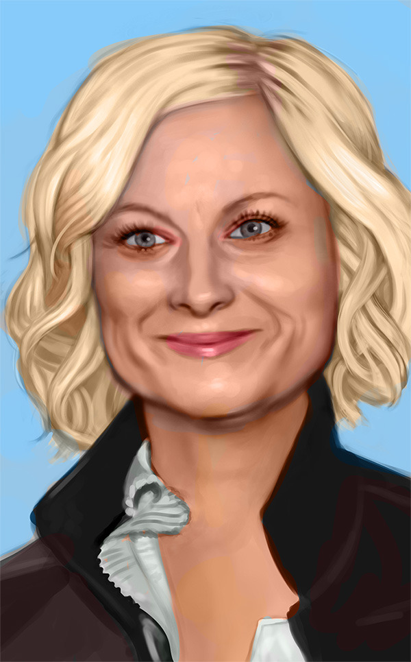 A study of my hero, Amy Poehler. Plus, a gif of my process: