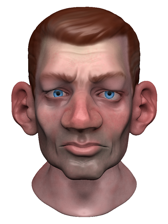 Zbrush head + polypaint done during class today.