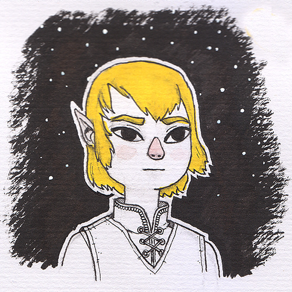Just bought the cheeeapest watercolor paper from Daiso! Had to draw a Link to test it out.