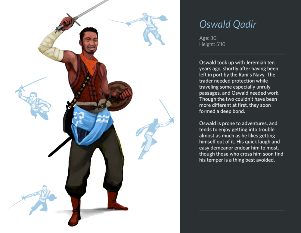 And bringing up the rear of the characters, this merry swordsman. Plussword: