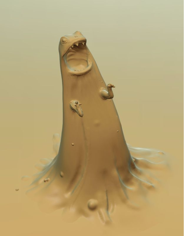 Goo guy, done for a quick trial run of the new release of Sculptris.