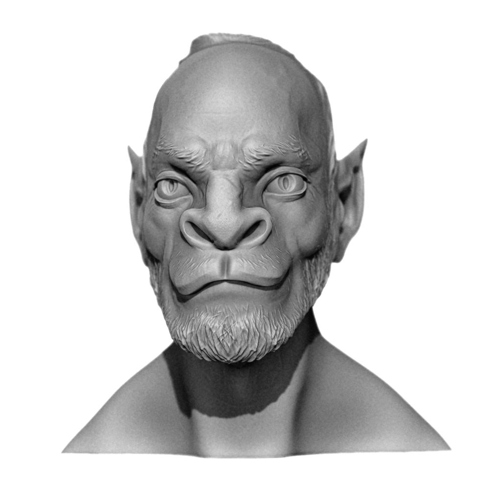 Quick Star Trek-style catman head sculpt. Now that I look at it, I guess he's got a bit of a Kilrathi thing going.   It's been a while since I touched ZBrush. I'm trying to get back in the swing of things and keep improving. Excelsior!