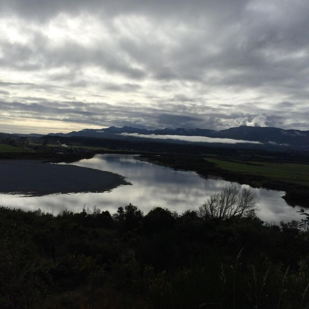The view from the place where I was born, Kaiata – just out of Greymouth.