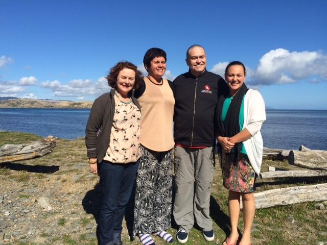 Michelle Lomax-Sawyers; Gina-Lee Duncan, Matt James and Mel Tainui in heartland Hongoeka
