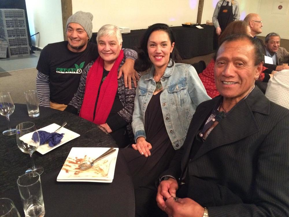 The team from Kākano Café with Whaea Tariana Turia
