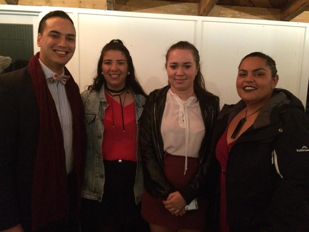 Te Kakano o Te Totara crew dressed up for the hakari.