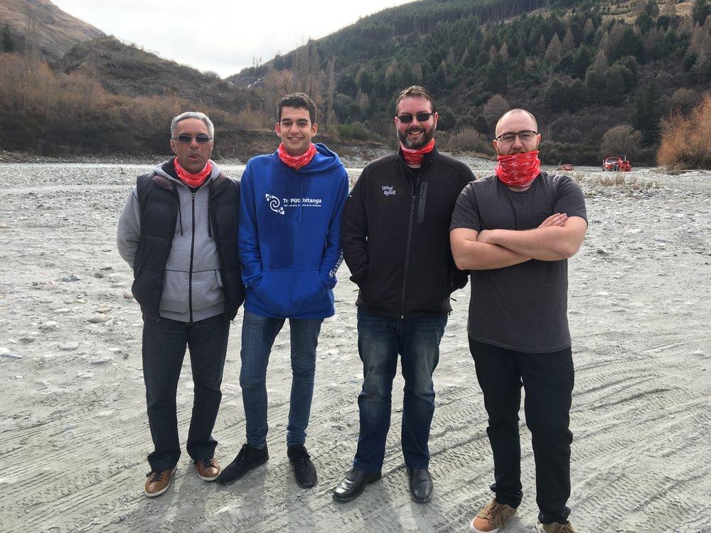 Our mighty men: Te Rā Morris; Sean Bragg; Haydon Richards and Ben Reriti-Jones.