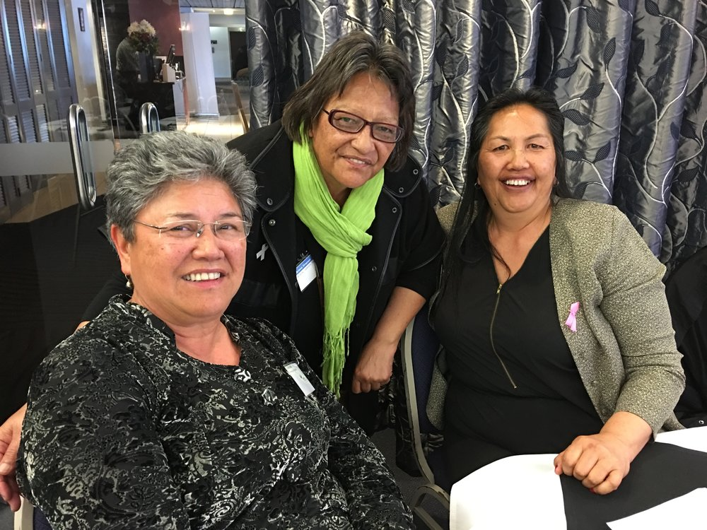 Great to meet up with old friends at the Summit: Liz Marsden, Ariana Simpson and Alva Pomare