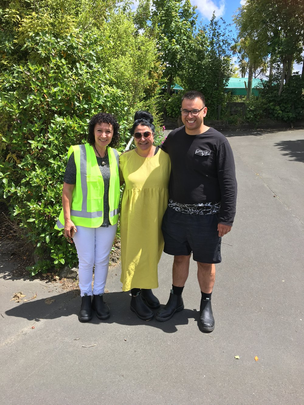 What a pleasure to spend time with these three: Shelley Kapua, Donna Matahaere-Atariki and Albie Lawrence; who were practically giggling with excitement in showing me the site as their dream starts to appear before them.