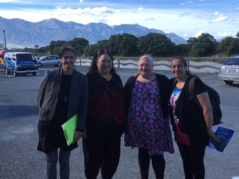 Rebecca Manawatu, Riria Allen, Ata Kāhu and Celeste Harnett
