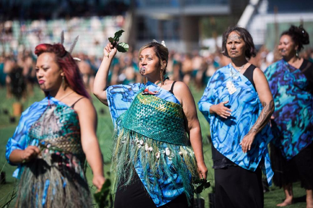 Māori Party Co-leader and MP, Marama Fox, was also amongst those welcoming whānau to Heretaunga