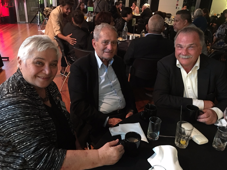 Dame Tariana Turia; Professor Sir Mason Durie and Len Cook at Te Ritorito 2017