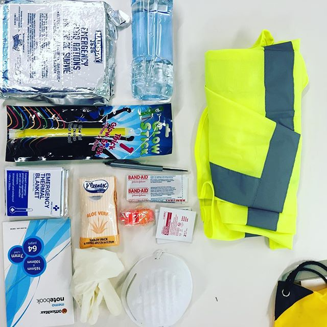 Reviewing all the office emergency packs today. Hope that all the whanau out there are looking after themselves during this awful weather. #beprepared #emergencykit #preparedforanything #lookingafterwhanau #teputahitanga #tewaipounamu #whanau #whanauora