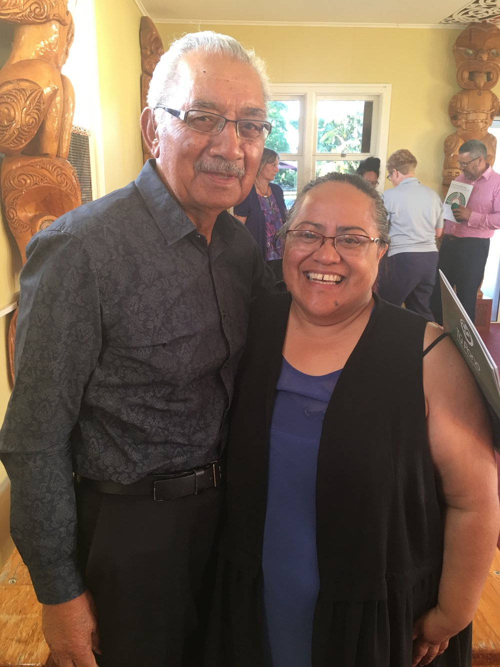 Navigator Team Leader Maire Kipa with beloved kaumātua, Tahi Takao, QSM