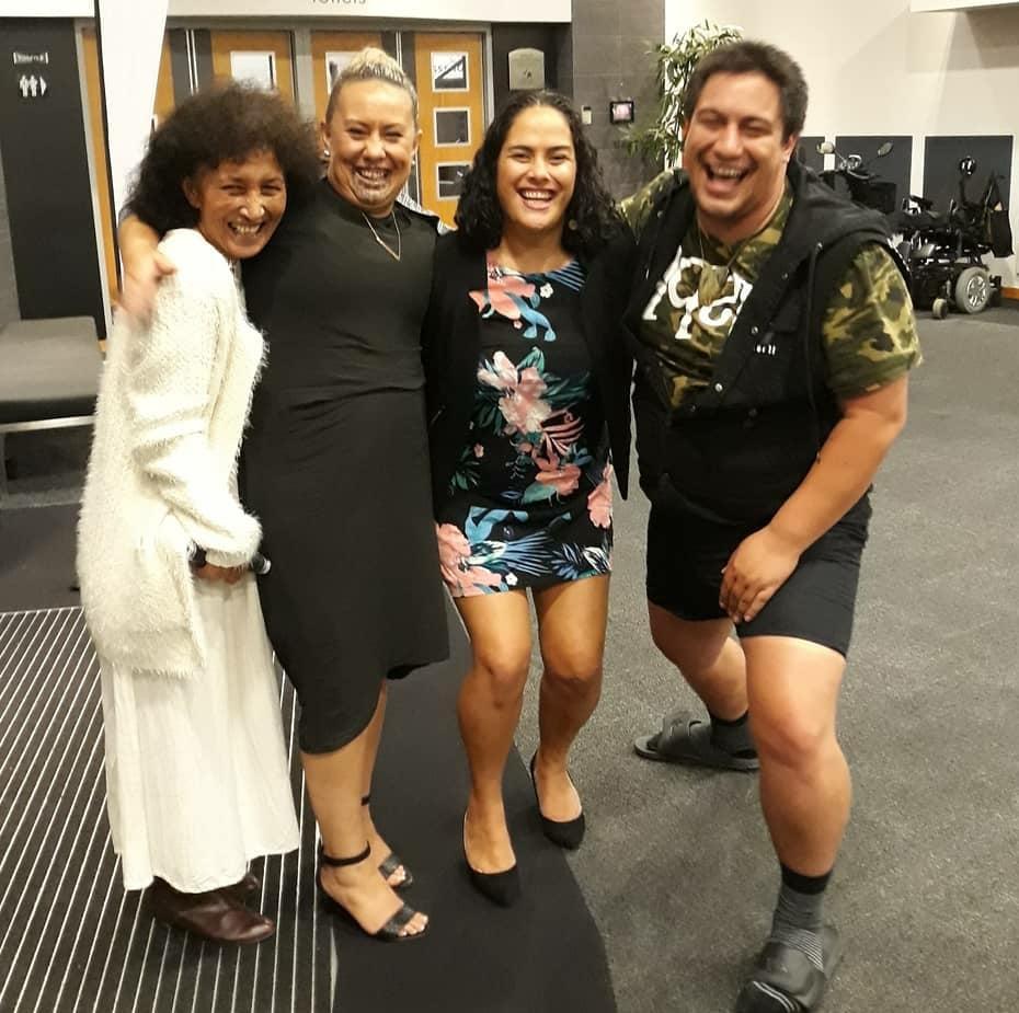 Ann Munro, Tania Riwai, and Marge Reedy and Kahutaane Whaanga