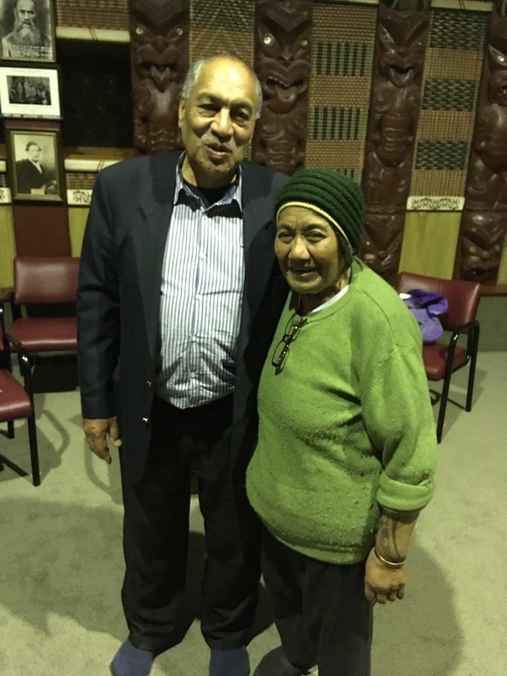 Matua Bob Te Miha and Aunty Roberta Arahanga