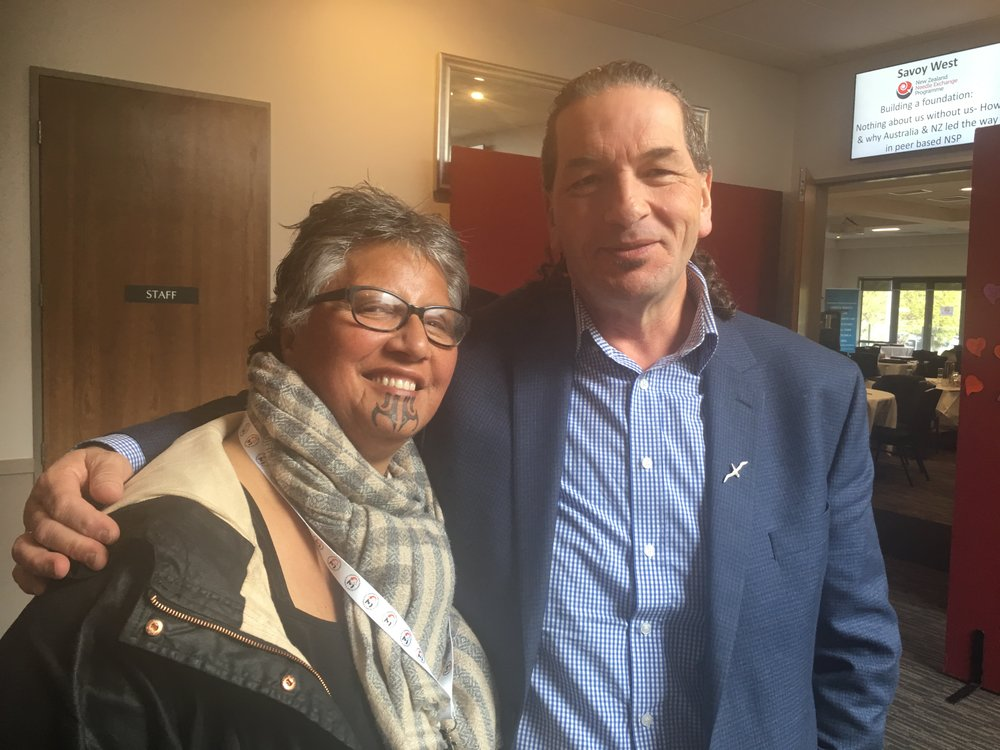 Moana o Hinerangi with Tuari Pokiti; Chair of the New Zealand Drug Federation
