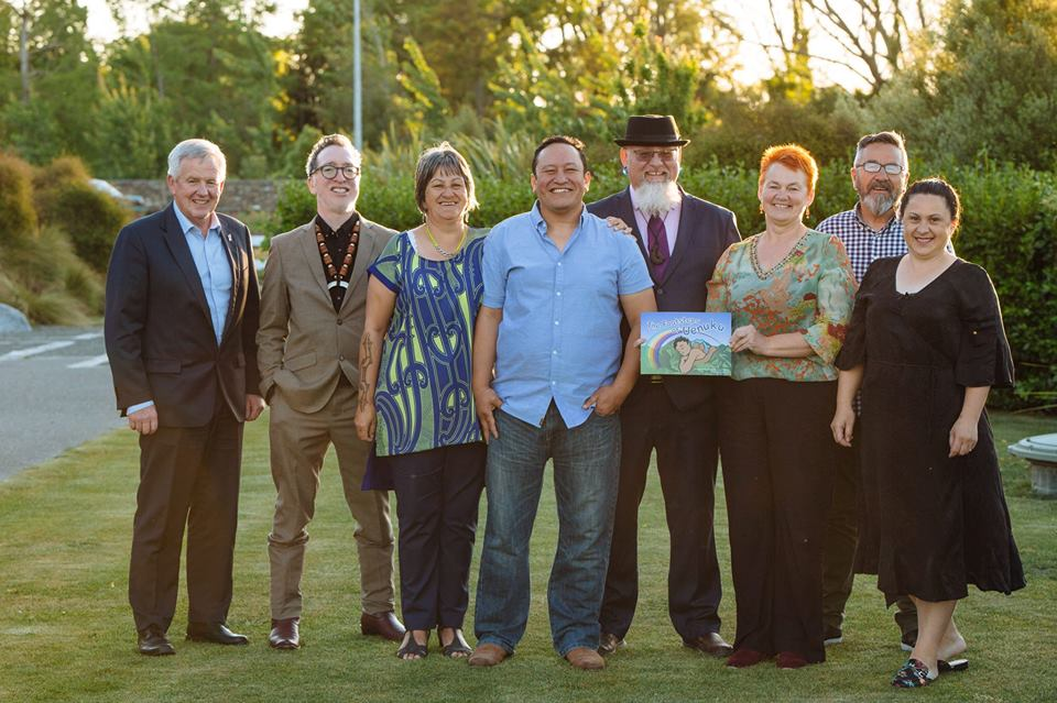 Mayor John Legget, Dr. Peter Meihana,  Rita Powick ,  Keelan Walker , Paora Mackie  Te Uhi O Wairau ,  Helen Leahy ,  Richard Bradley ,  Sue McElhinney
