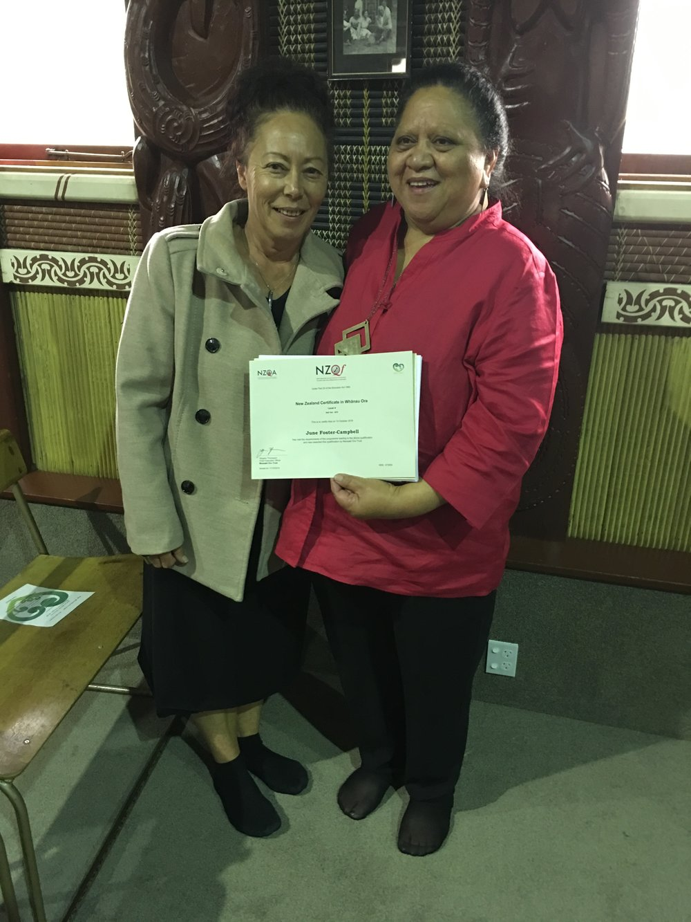 A beautiful moment to celebrate and congratulate June Foster-Campbell