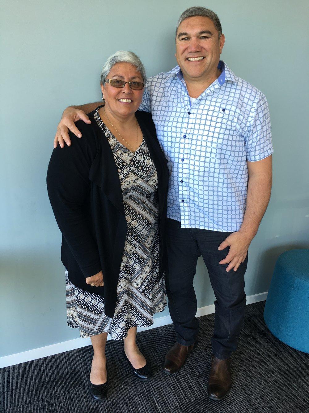 Two Wharekauri whānau: Trescia and Pari Hunt