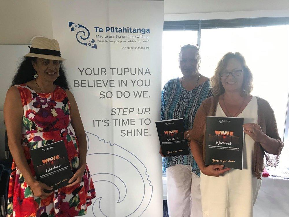 Ngaio Te Ua, Lorraine Hawke and Heather Manawatu in Kaikōura.