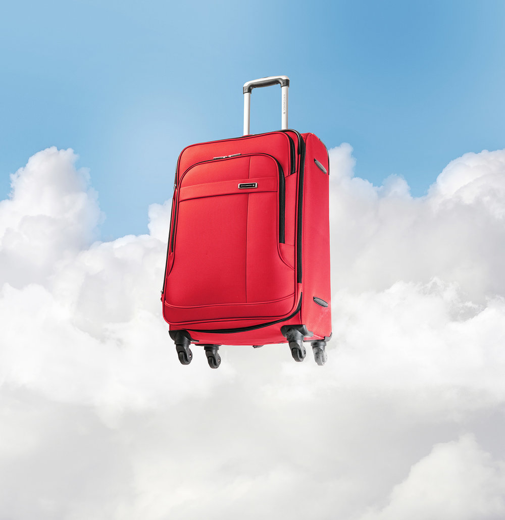 Product Photography Luggage Air Canada