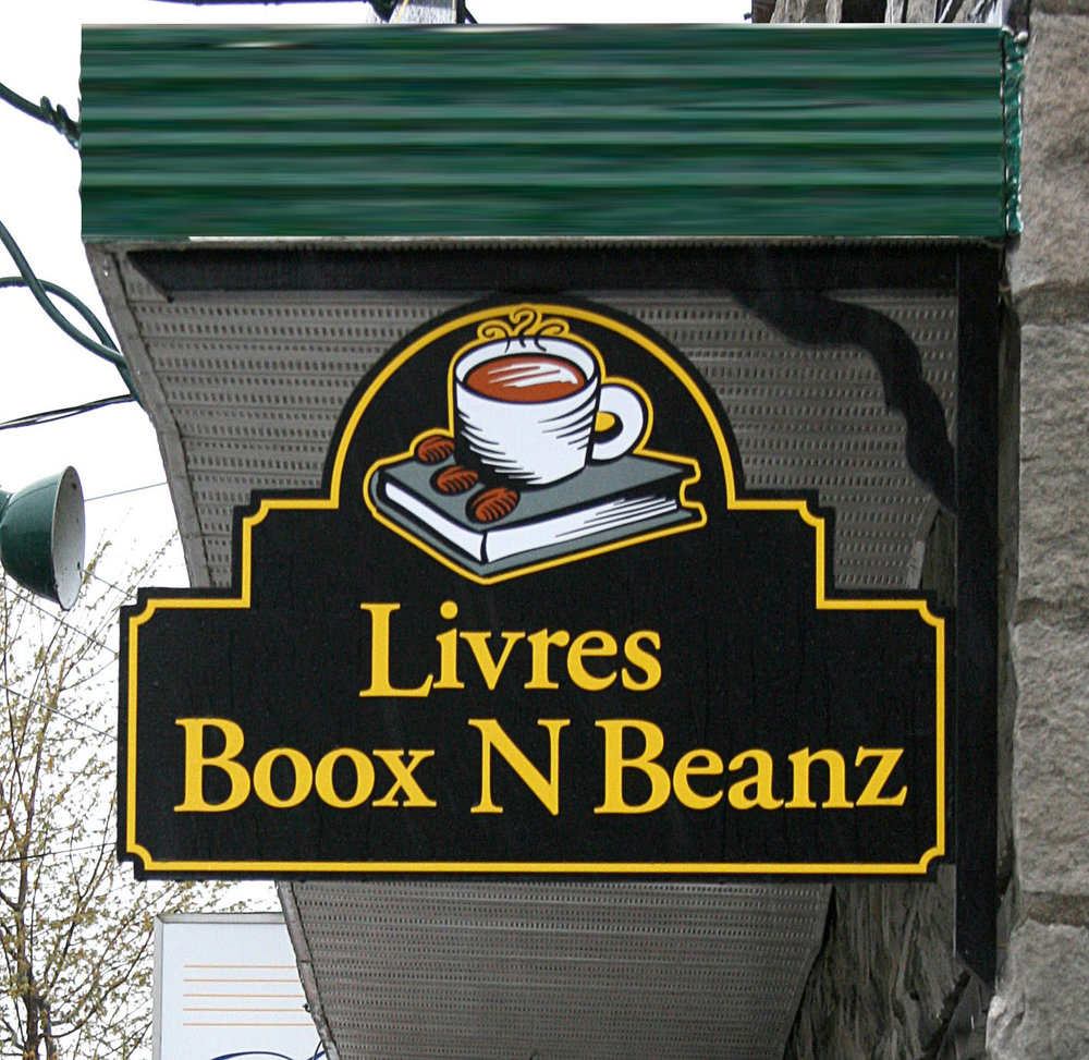 Sign panel, 2 sided café with logo design. © JodieHebert 2017