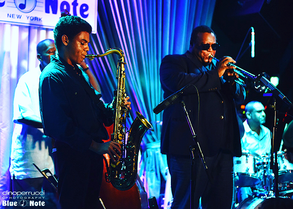 Some pictures from the Blue Note Jazz Club last month with Wallace Roney @oscarwilliams2 @theofficialcurtislundy @ronnieburrage 📸: Dino Perrucci
